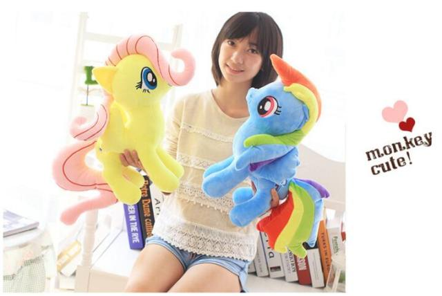 Super cute 1pc 30cm pony doll cartoon horse plush toy girls children birthday gifts
