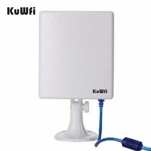 Image 2 - 2.4G WiFi Adaptador USB 150 Mbps de Longa Distância Wifi Antena de Alta Potência Placa de Rede Sem Fio Receptor Wifi De Mesa Com Cabo de 5 m