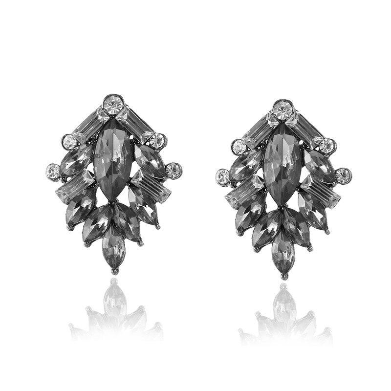 E0229 Винтаж черный кристалл воды серьги для Для женщин Модные украшения слеза дизайн со стразами Длинные висячие серьги высококачественные