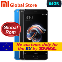 Original Xiaomi Mi Note 3 Note3 64GB ROM 6G BRAM Mobile Phone Snapdragon S660 Octa Core 12.0MP 16.0MP 5.5 Inch 1920*1080 3500MAh