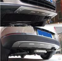 Спереди + задний бампер диффузор протектор гвардии картера для VW Tiguan 2013 2014 2015 2016 BY EMS