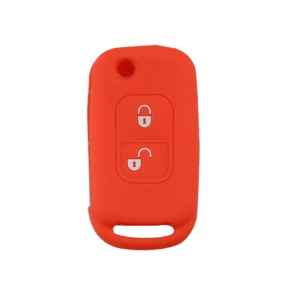 OkeyTech Car Style 2 Button Folding Flip Key Case Entry Remote Key Cover Replacement for Mercedes Benz A C E w204 w203 w211 key