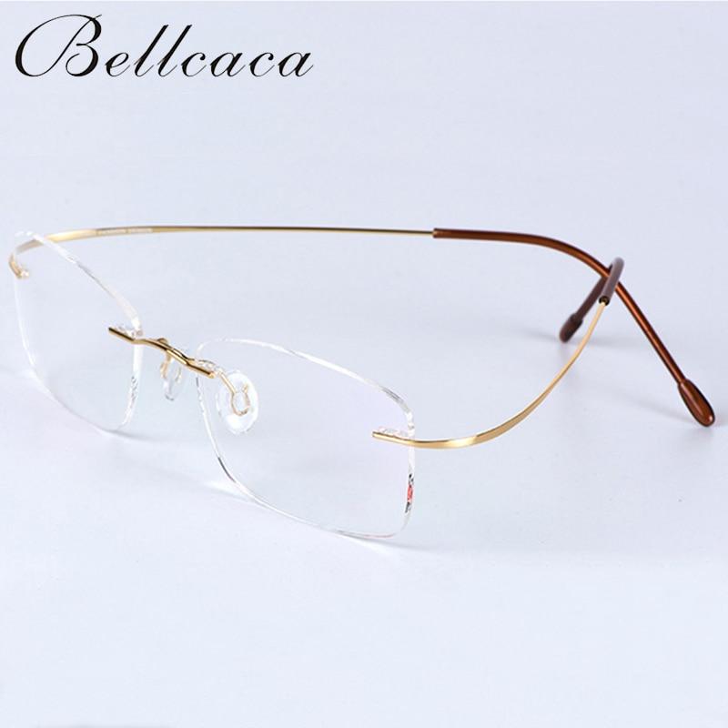 بريسبيوبيا نظارات النساء الرجال للجنسين بدون شفة نظارات القراءة التيتانيوم مرنة + 1.0 +1.5 +2.0 +2.5 +3.0 +3.5 +4.0 BC133