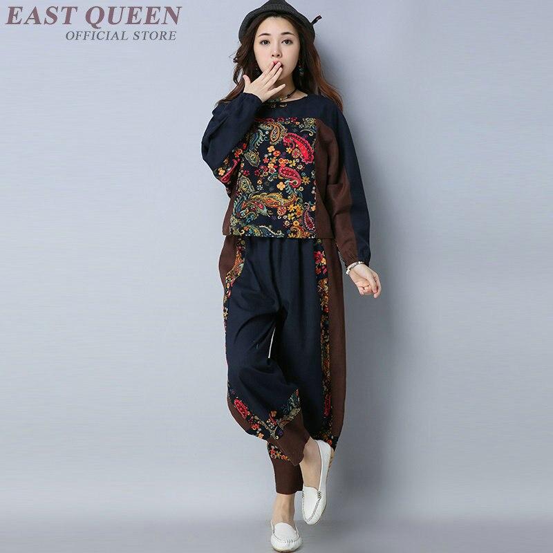 Aa4198 Pièce Costumes Femmes Ensemble Femelle 2018 Élégant Pantalon Deux Dames Traditionnel 2 Pièces Ensembles Sweat 1 Chinois wq76CBw8