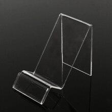 Универсальный прозрачный пластиковый дисплей держатель подставка для мобильного телефона Показать Стенд кронштейн для iPhone 6 7 для samsung для htc
