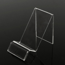 Universal Transparent Plastic Display Holder Stand Mobile Phone