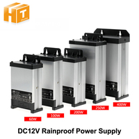 LED Outdoor Rainproof Power Supply DC12V 60W 100W 200W 250W 400W LED Driver Lighting Transformers