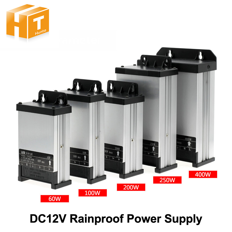 LED Outdoor Rainproof Power Supply DC12V 60W 100W 200W