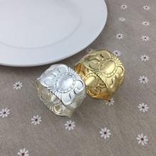 12PCS alloy napkin ring wedding home hotel accessories