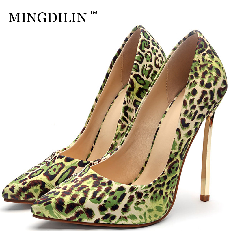 MINGDILIN Women's High Heels Shoes Sexy Plus Size 33 43 Woman Shoes Pointed Toe Red Black Green Wedding Party Pumps Stiletto