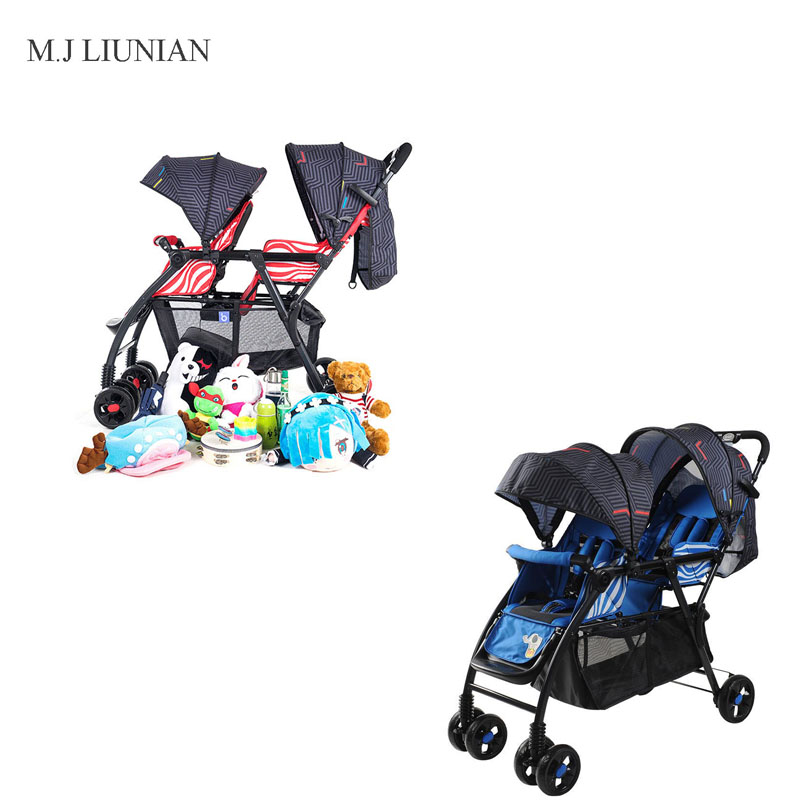 Twins stroller adjustable front and rear seats folding baby strollers 2 in 1 combo High landscape Portable cart newborn handcartTwins stroller adjustable front and rear seats folding baby strollers 2 in 1 combo High landscape Portable cart newborn handcart