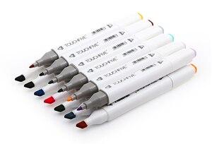 Image 5 - Touchfive 30/40/60/80/168 с двухголовой живопись на холсте маркером в наборе алкоголя краски манга стиле «граффити» из мультфильма; Эскиз маркер для рисования набор