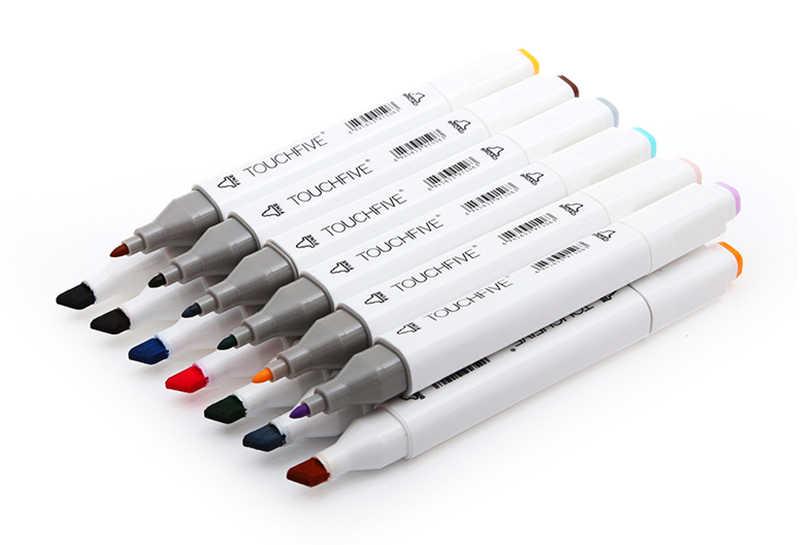 Touchfive двуглавый художественный маркер ручка спиртовая Краска Маркер ручка манга мультфильм Граффити Эскиз Арт маркеры набор дизайнеров