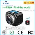 Winait 360 CameraFull HD 1080p 4K Wifi Mini Camera 220 degree super wide lens Romote controller Sport Driving VRCamera