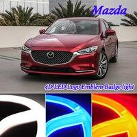4D Cold Light LED Badge Emblem Logo Light for Mazda 2 3 6 CX3 CX 3 CX5 CX 5 CX7 CX 7 CX9 CX 9 MX5 led Emblem Light