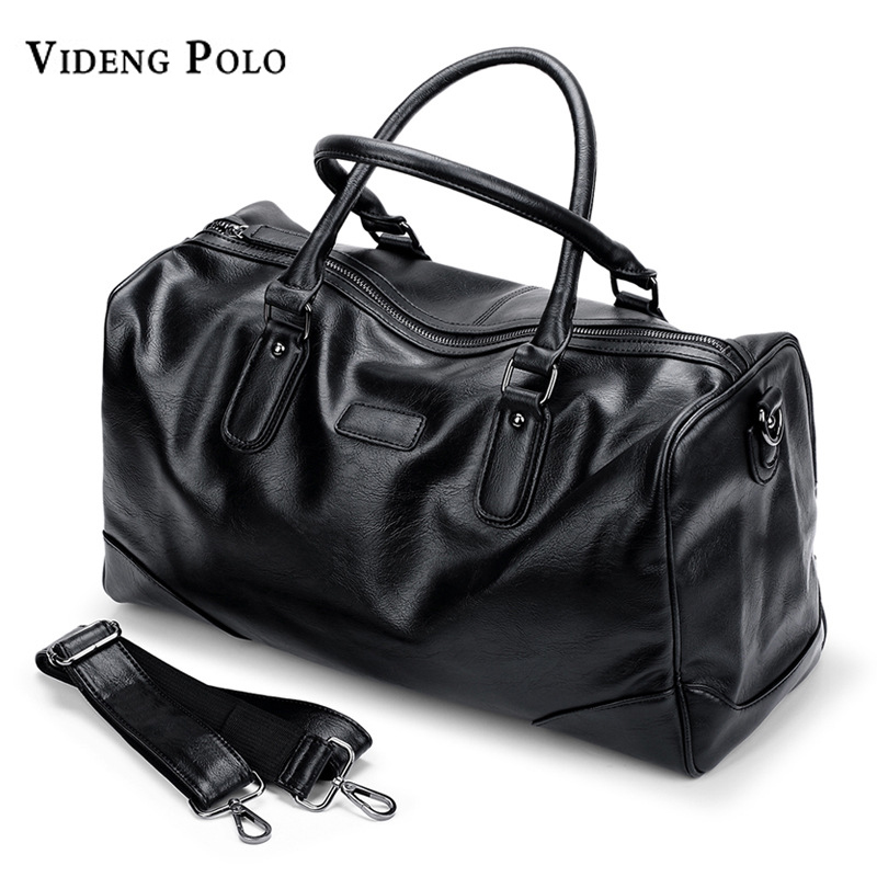 4dd0974e57 VIDENG POLO Brand Leather Men Travel Bag Large Capacity Tote Portable  Shoulder Duffle Bags Men s Casual Handbag Male Bolsas-in Top-Handle Bags  from Luggage ...