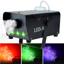 500W Fog Machine with Wireless Remote Control LED Light Wedding Parties Stage Performance KTV Bar Party Colorful Smoke Machine цена 2017