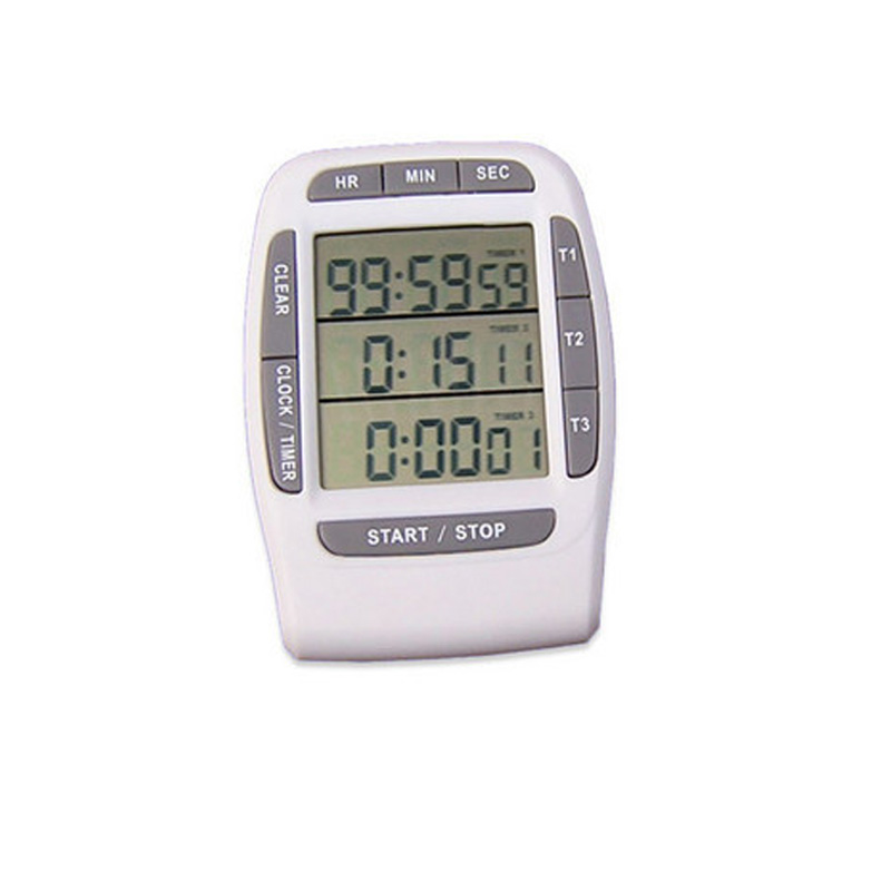 Large LCD screen kitchen timer three channel kitchen timer digital kitchen timer free shipping