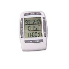 Große lcd-bildschirm küche timer, drei kanal küche timer, digitale küchenuhr, freies verschiffen