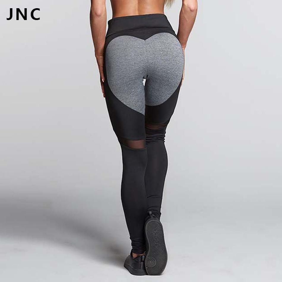 2017 new hotsales grey heart yoga leggings for women big