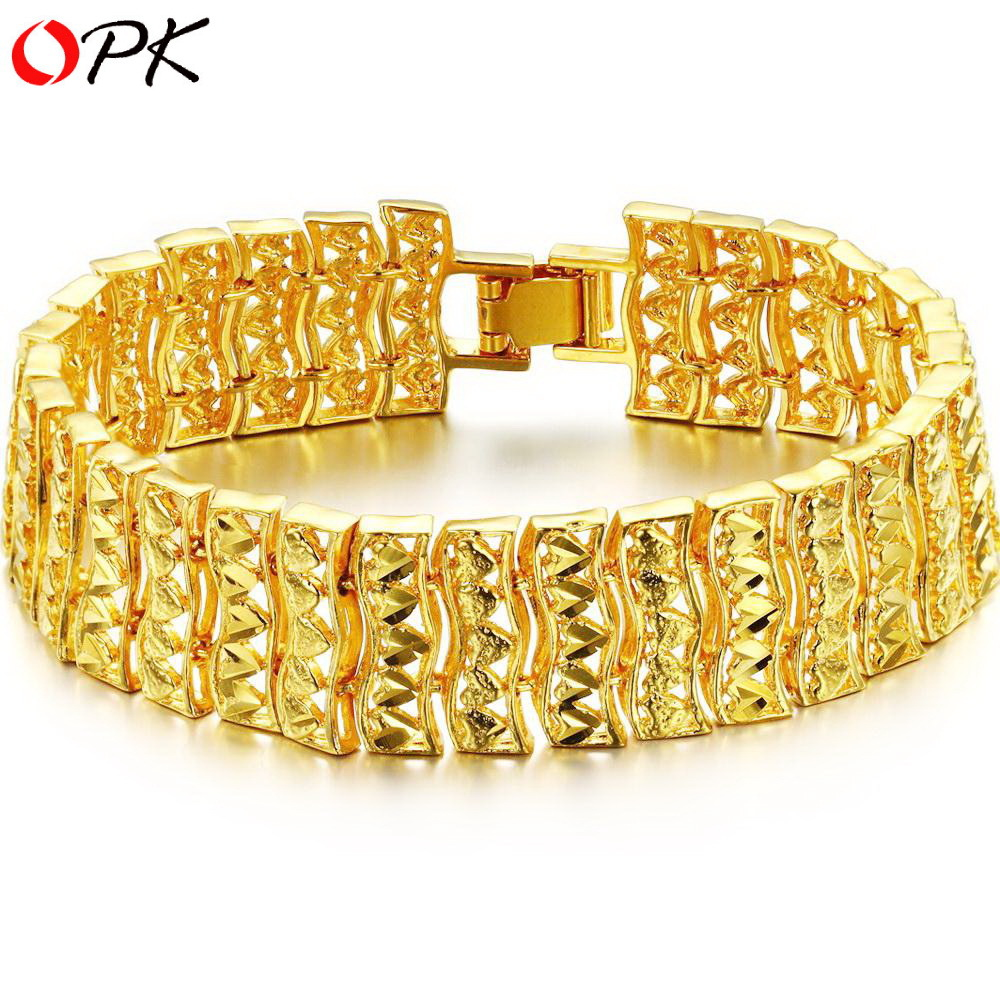 OPK JEWELLERY hot selling fashion design wedding jewelry18K Gold