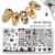 12 Unids/set NACIDO PRETTY 12*6 cm Rectángulo Manicura Stamping Nail Art Placa de la Imagen de Plantilla Plantillas BPX-L001 ~ 012