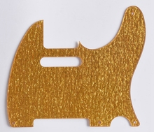KAISH Gold Sparkle Vintage 5 Hole Tele Pickguard Scratch Plate for USA Telecaster