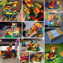 52Pcs Construction Marble Race Run Maze Balls Track Building Blocks Big Size Educational Bricks