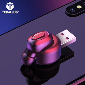 TEBAURRY T1 Invisible Wireless Bluetooth Earphone Mini Bluetooth Headset Wireless 8 hours work time Bass Earbuds with Microphone