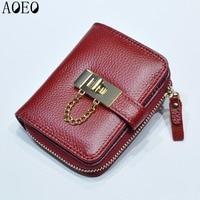 Korean Candy Girls Wallet Cute Small Mini Card Holder Big Capacity Women Genuine Purse Ladies Leather