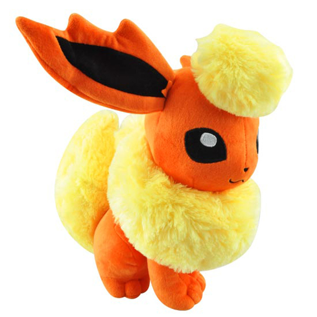 30cm Sitting Flareon Eevee Plush Pokemon Flareon Plush Toys Doll Soft Stuffed Animals Toys Pocket Monster Figure Toy for Kids