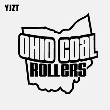 YJZT 14.1CM*14.3CM OHIO COAL ROLLERS Vinyl Decal Car Sticker Powerstroke Diesel Black/Silver C3-0825 image