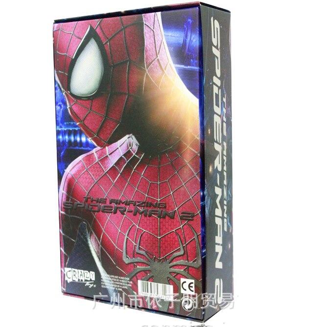 2016 Hot Mavel The <font><b>Amazing</b></font> <font><b>Spiderman</b></font> <font><b>2</b></font> toys PVC Action Figure 27 cm Crazy Toy Collection Model with original package