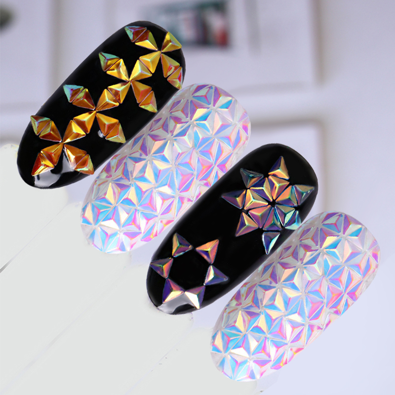 Unicorn Chameleon Nail Sequins AB Color Iridescent Triangle s