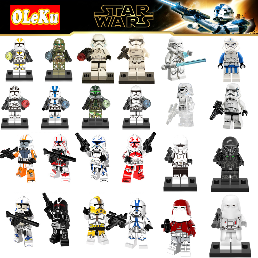 star wars The CLONE Last Jedi Imperial Army Military Clone Trooper Stormtrooper building blocks STARWARS toys LEGOINGS FigureS 3pcs set imperial hovertank pilot death trooper shoretrooper diy figures starwars superheroes building blocks new kids toys xmas