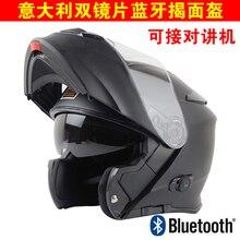 Nuovo Casco Del Motociclo di Bluetooth Costruito in Citofono Dispositivo di Origine Moto Modulare Flip-up Casco Stereo Della Cuffia Impermeabile