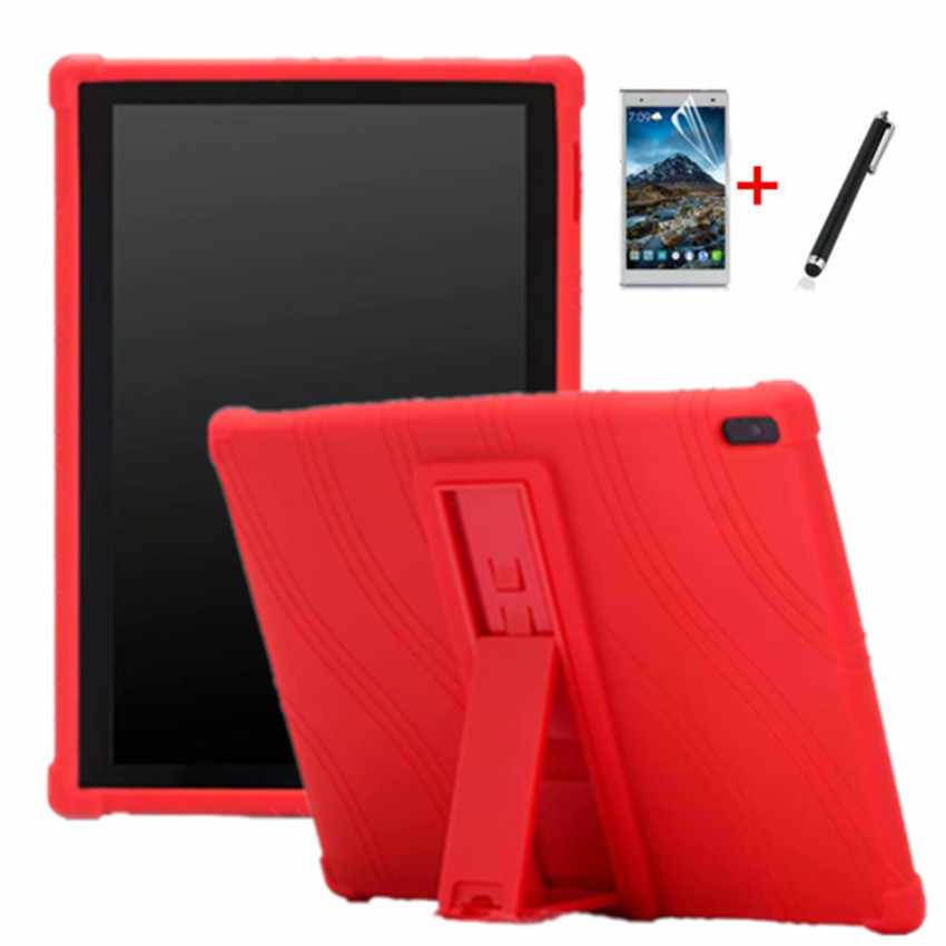 Silicon Case Voor Lenovo Tab E10 10.1 Tablet Cover Funda TB-X104F Tb X104F TB-X104L TB-X304F X704F Full Body Skin Stand shell