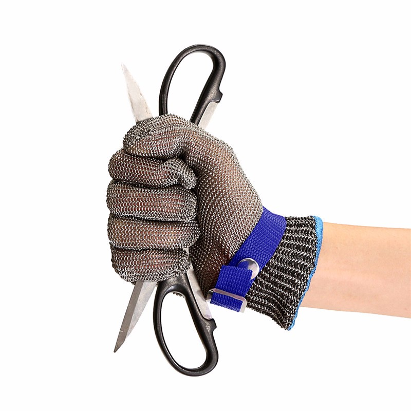 Stainless steel Anti cut protective gloves,Metal Safety Gloves ,Mesh Butcher Glove,1pcs x Steel wire Glove (not a pair) top quality 304l stainless steel mesh knife cut resistant chain mail protective glove for kitchen butcher working safety