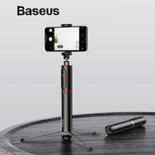 Baseus Bluetooth Selfie Stick Portable Handheld Smart Phone Camera Tripod with Wireless Remote For iPhone Samsung Huawei Android(China)