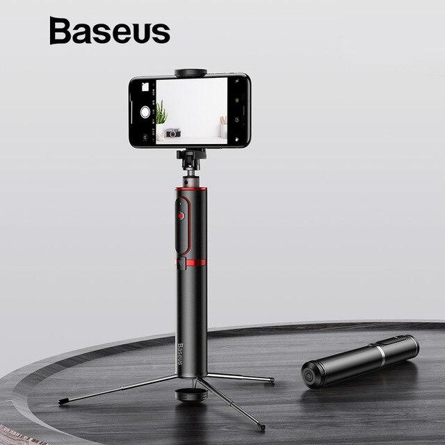 Baseus Bluetooth Selfie Stick portátil teléfono inteligente Cámara trípode con control remoto inalámbrico para iPhone Samsung Huawei Android