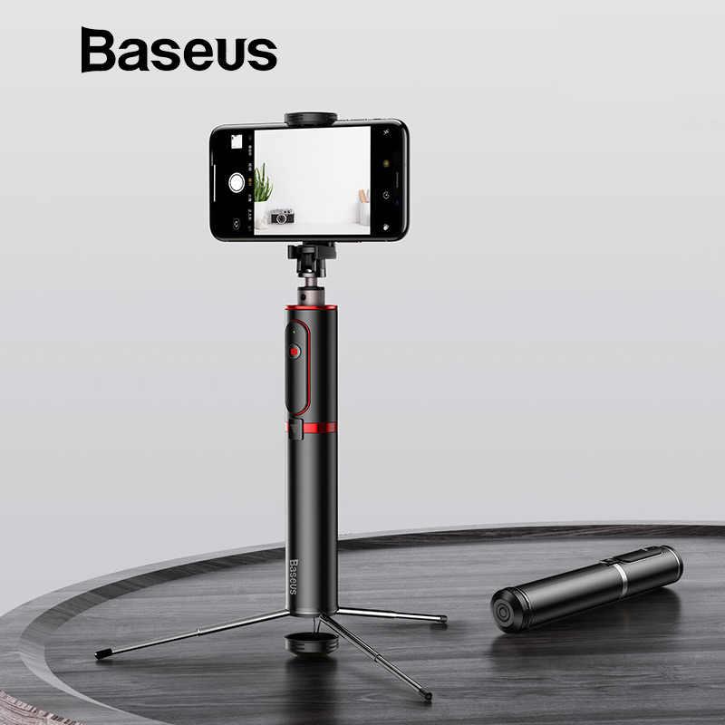 Baseus Bluetooth селфи палка портативный ручной умный Штатив для телефона, фотокамеры с беспроводным пультом дистанционного управления для iPhone samsung huawei Android