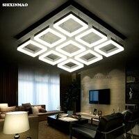Acrílico quadrado LEVOU Luz de Teto sala de estar sala de estudo quarto & business lugar Escurecimento lâmpada Do Teto