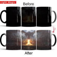 game of thrones mug dragon fire the end  begins cold hot heat changing color magic tea cups best gift for yourself