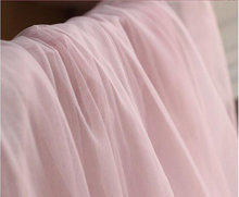blush pink mesh fabric, light pink tulle lace fabric, pink gauze, by the yard, MF203
