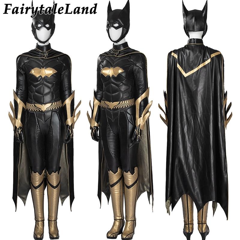 Alibaba グループ 上の バットマン: Arkham 騎士バットガールのコスプレ衣装大人のハロウィンコスチューム女性バットマンバットガールジャンプスーツスーパーヒーロー衣装 2