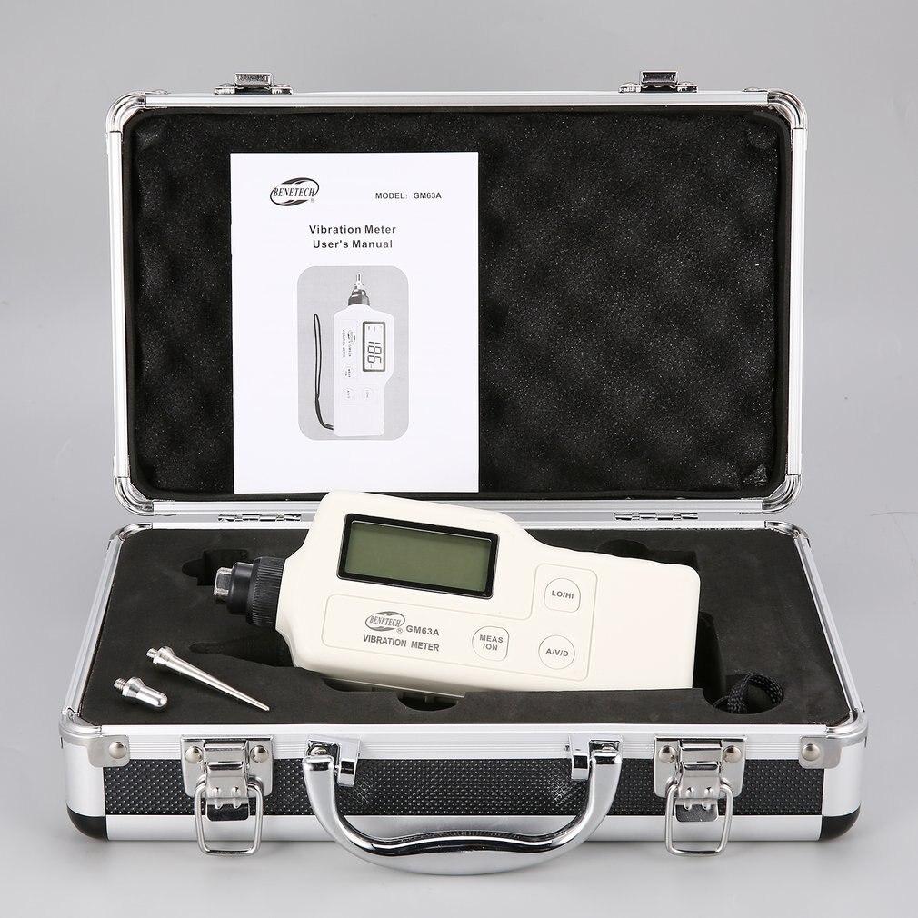 GM63A цифровой виброметры Виброметр метр устройство измеряет ручной анализатор тестер анализатор датчик высокой точности