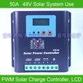 50A 48В ШИМ Контроллер заряда на солнечной батарее  с ЖК-дисплеем Напряжение и емкость батареи  высококачественный дисплей зарядки для Решетк...