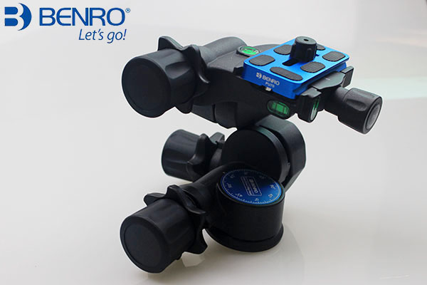 Benro Pro 3 Way Geared Gear Drive Tripod Head GD3WH