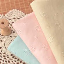 Miaos hand-made pink Beige Mint blue cotton embroidered fabric