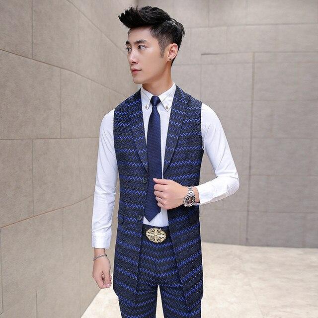 Men Suit Vest Long New Designer Gilet Costume Homme Mens Waistcoats Men's Fashion Vests Vest Men Tailored Wedding Party Prom